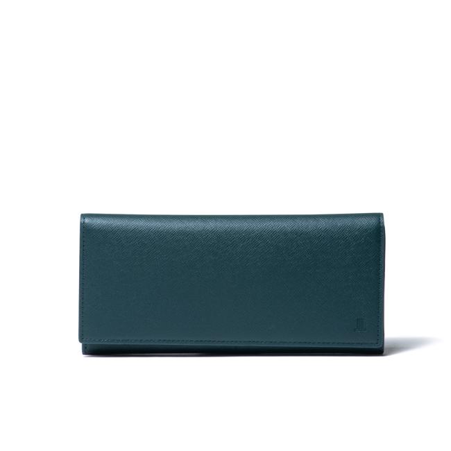 LANVIN COLLECTION couleur du vin かぶせ型長財布