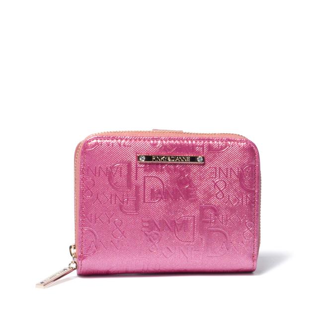 PINKY&DIANNE ソリッド L字ファスナー折り財布